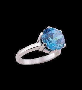 Кольцо из серебра Сапфир (19009г)