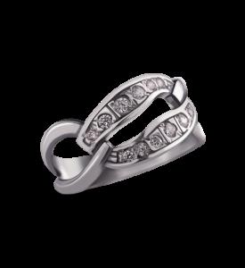 Кольцо серебряное  Маленькое звено (19015)