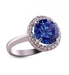 Кольцо серебряное Малинка с нанокристаллом (19018с)