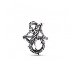 Кольцо из серебра Змея на дереве (19038)