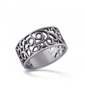Кольцо из серебра Завиток (19046)