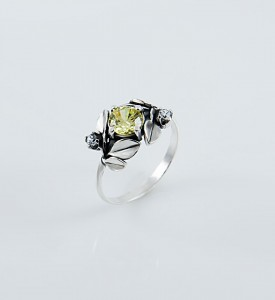 Кольцо серебряное Яблоневый цвет 19047яб
