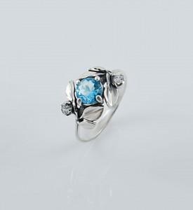 Кольцо серебряное Яблоневый цвет (19047г)
