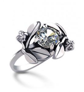 Кольцо серебряное Яблоневый цвет (19047)