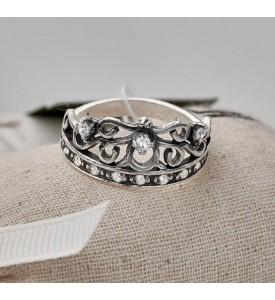 Серебряное кольцо Корона Лиза (19060)