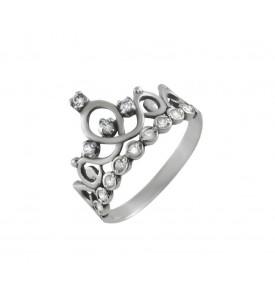 Серебряное кольцо Корона дорожка (19064)