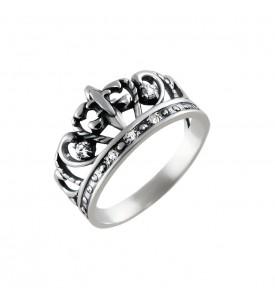 Серебряное кольцо Корона Лилия (19065)