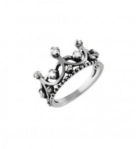 Серебряное кольцо Корона Анна (19066)