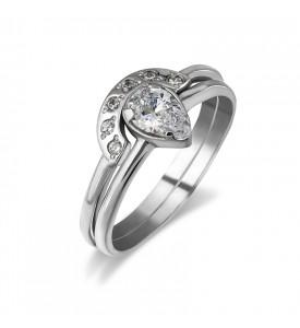 Серебряное кольцо Твин (19152р)