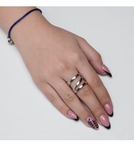 Серебряное кольцо Спираль (19160р)