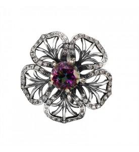 Кольцо из серебра Фрезия (19168мист)