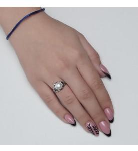 Серебряное кольцо Санта (19185)