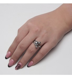 Серебряное кольцо Шары (19209/5+8р)