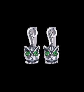 Серьги серебряные Котята (29026)