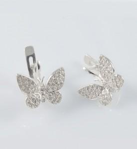 Серьги серебряные Зорька (29063)