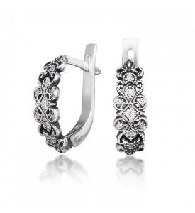Серебряные серьги Шантиль(29106)