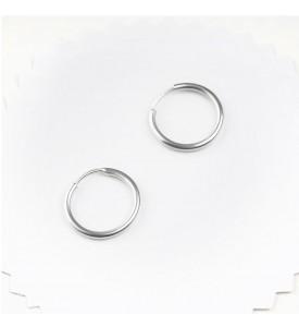Серебряные серьги- кольца 1 см (29220/1р)
