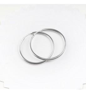 Серебряные серьги- кольца 2 см (29220/2р)