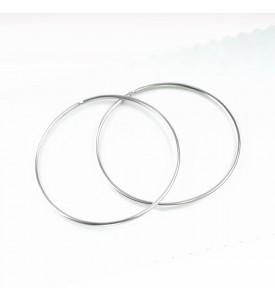 Серебряные серьги- кольца 4 см (29220/4р)