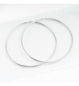 Серебряные серьги- кольца 5 см (29220/5р)