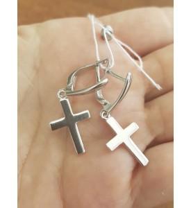 Cерьги крестики Вера (29231)