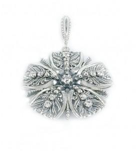 Кулон серебряный цветок (Х-3303)