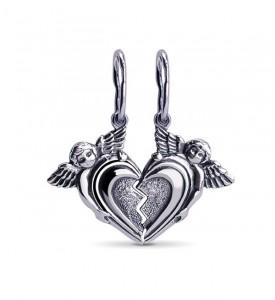 Подвеска сердце Валентинка (39038)