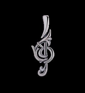 Кулон Скрипичный ключ бол.(39075)