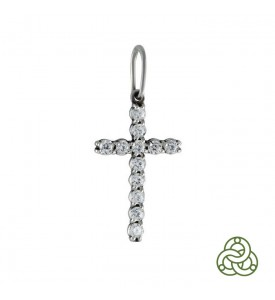 Серебряная подвеска Крест Россыпь бол. (30122р)