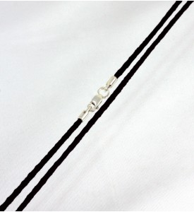 Колье шёлк чёрное (59019ч)