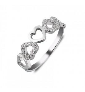 Серебряное кольцо Сердце (19205р)