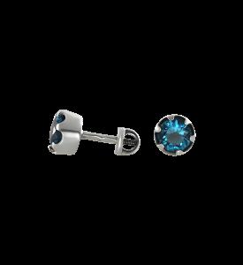Гвоздики с голубым фианитом (29006г)