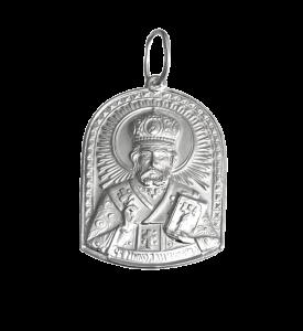 Подвес серебряный Николай (3583/1б)