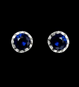 Гвоздики с синим фианитом (5645с)