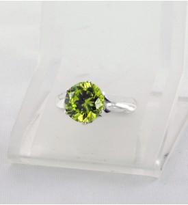 Кольцо из серебра с фианитом Сапфир (19009о)