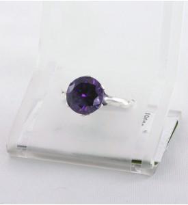 Кольцо из серебра с фианитом Сапфир (19009с)