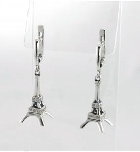 Серебряные серьги Эйфелева башня (29048)