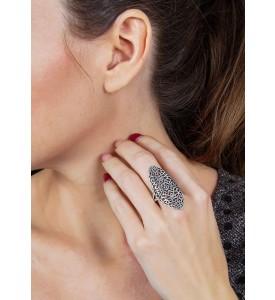 серебряное кольцо Скарлетт (19145)