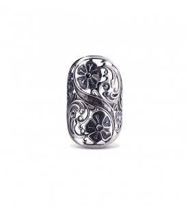 Кольцо из серебра без камней  Лето