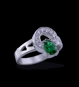 Кольцо серебряное Маргаритка (19710з)